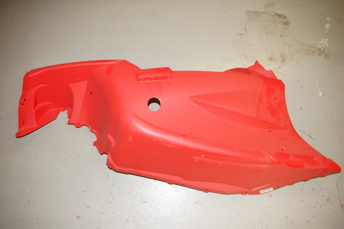 2706-227 Belly Pan Firecat 500/600/700 Sno Pro 03-04 Red